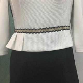 职业女装布料需要一模一样的 织带为棉线(黑色和金色)