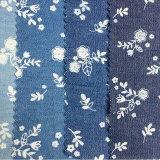 求购印花水洗青年布,外观如图。要求花色相同
