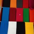 红布彩旗绸 涤纶化纤90cm红黑蓝黄绿各种棉麻布料 纯色定做直
